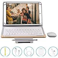 Tablets P9 10.1 Pulgadas Full HD, Android 9.0 WiFi/4G/OTG, 4GB RAM + 64GB ROM, Octa-Core 8MP Cámara Tablet PC 8000mAh Batería Moviles Buenos o Tablets Puede Llamar Apoyo Dual SIM (Gold)