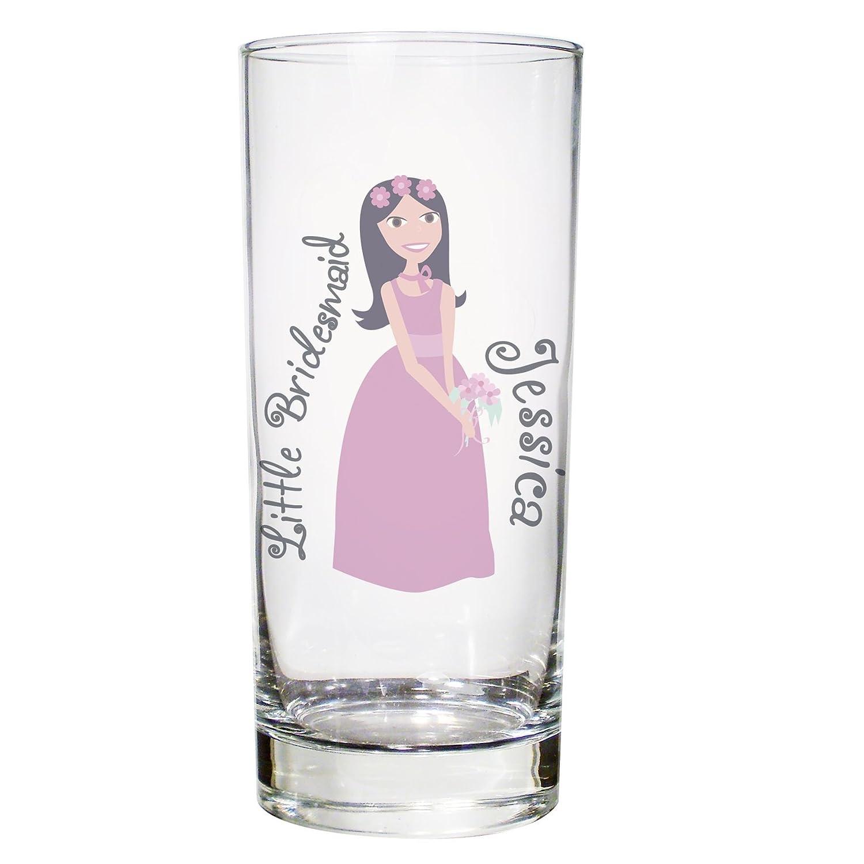 Fabulous Little Bridesmaid Flower Girl Hi-Ball Glass Personalised Wedding Gift