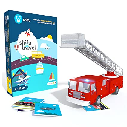 Shifu Travel Augmented Reality Learning Games - iOS & Android (60 Vehicle Cards) Educational Games at amazon