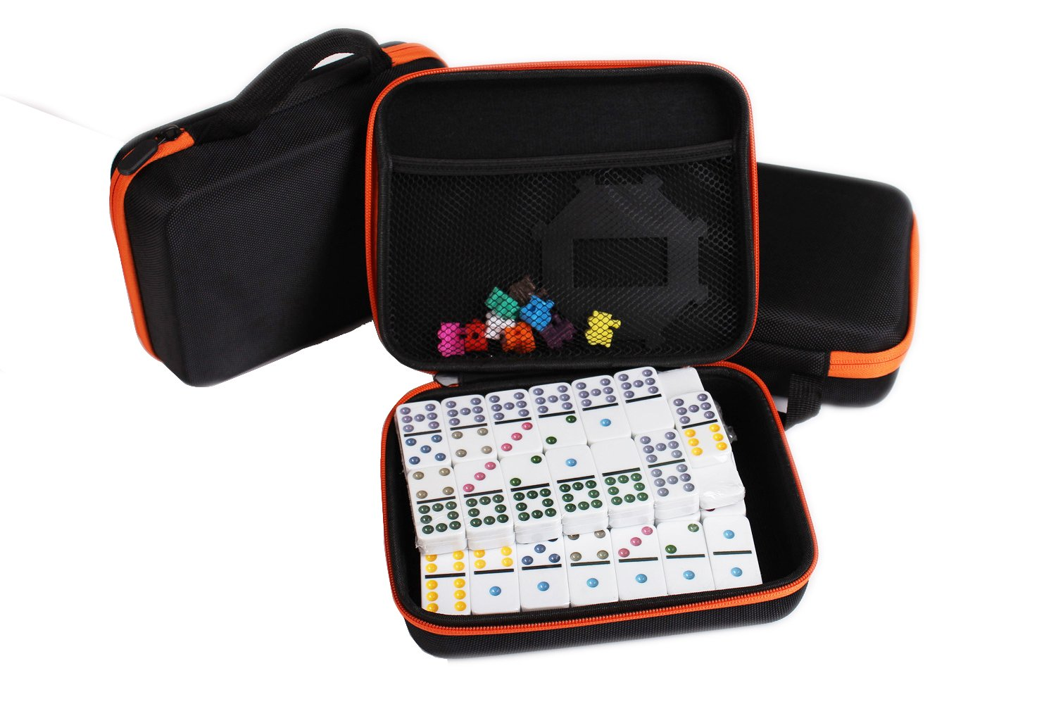 Kalolary Mexican Train Dominoes Game,91 Piece Double 12 Color Dominoes Set for Children's day
