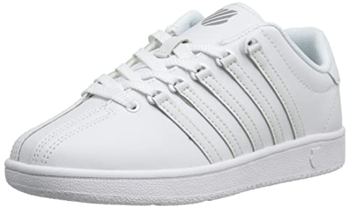 separation shoes 25da6 c6d44 K-Swiss Classic VN Bambino Bianco Pelle Scarpe ginnastica ...