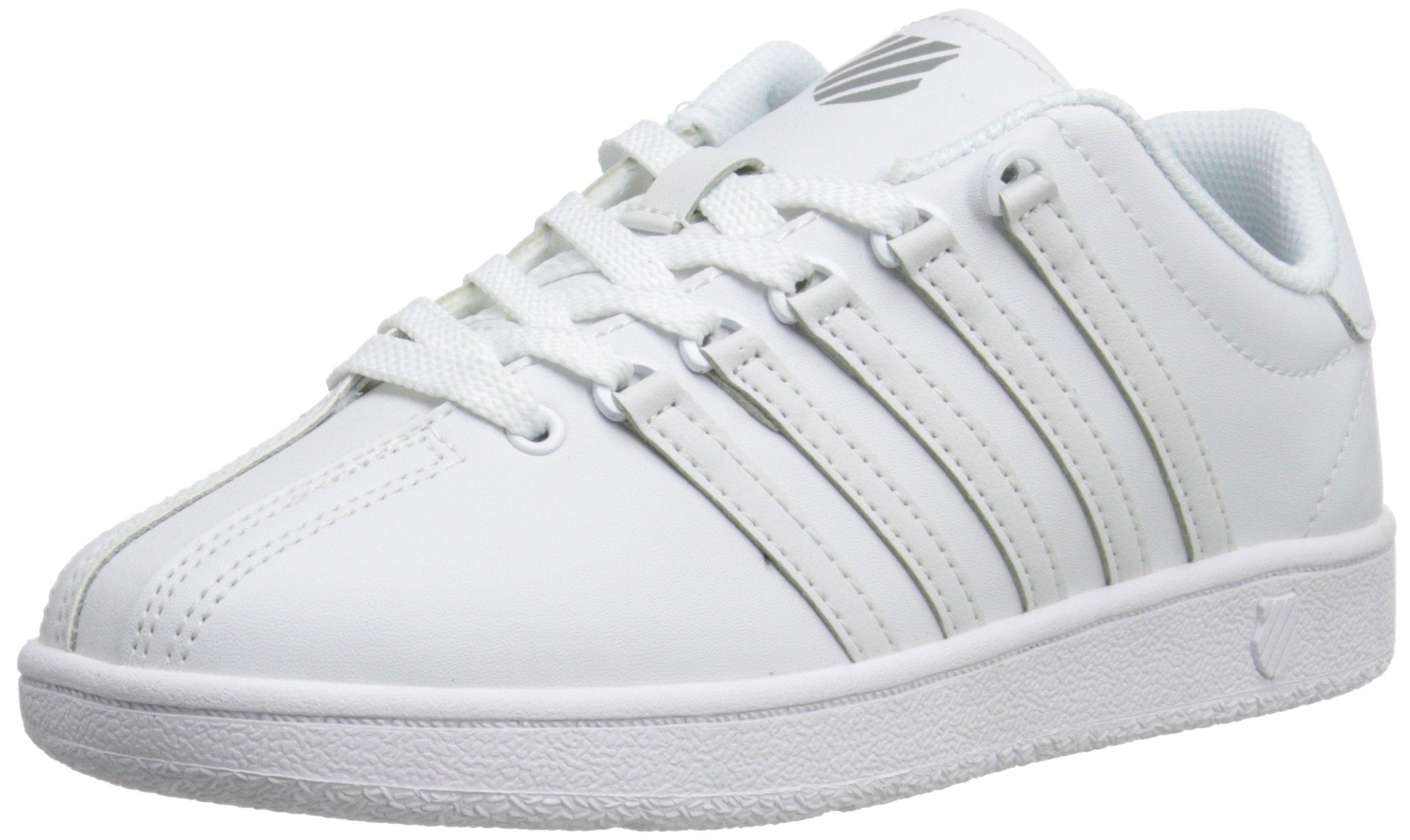 K-Swiss Classic VN Sneaker, White/White, 5.5 M US Toddler