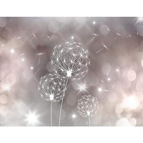 Fototapete Pusteblumen 396 x 280 cm Vlies Wand Tapete Wohnzimmer  Schlafzimmer Büro Flur Dekoration Wandbilder XXL Moderne Wanddeko Flower  100% MADE IN ...