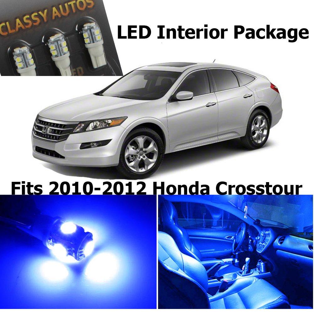 Amazon com classy autos blue led lights interior package for honda crosstour 7 pieces automotive