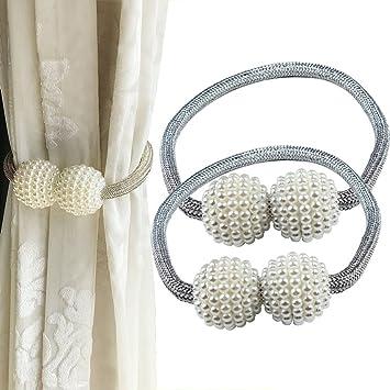 YCLJ - Cortina magnética con abrazaderas y hebillas para sujetar cortinas, 2 piezas: Amazon.es: Hogar