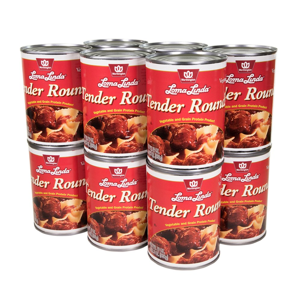 Loma Linda - Vegetarian - Tender Rounds with Gravy (19 oz.) (Pack of 12) - Kosher
