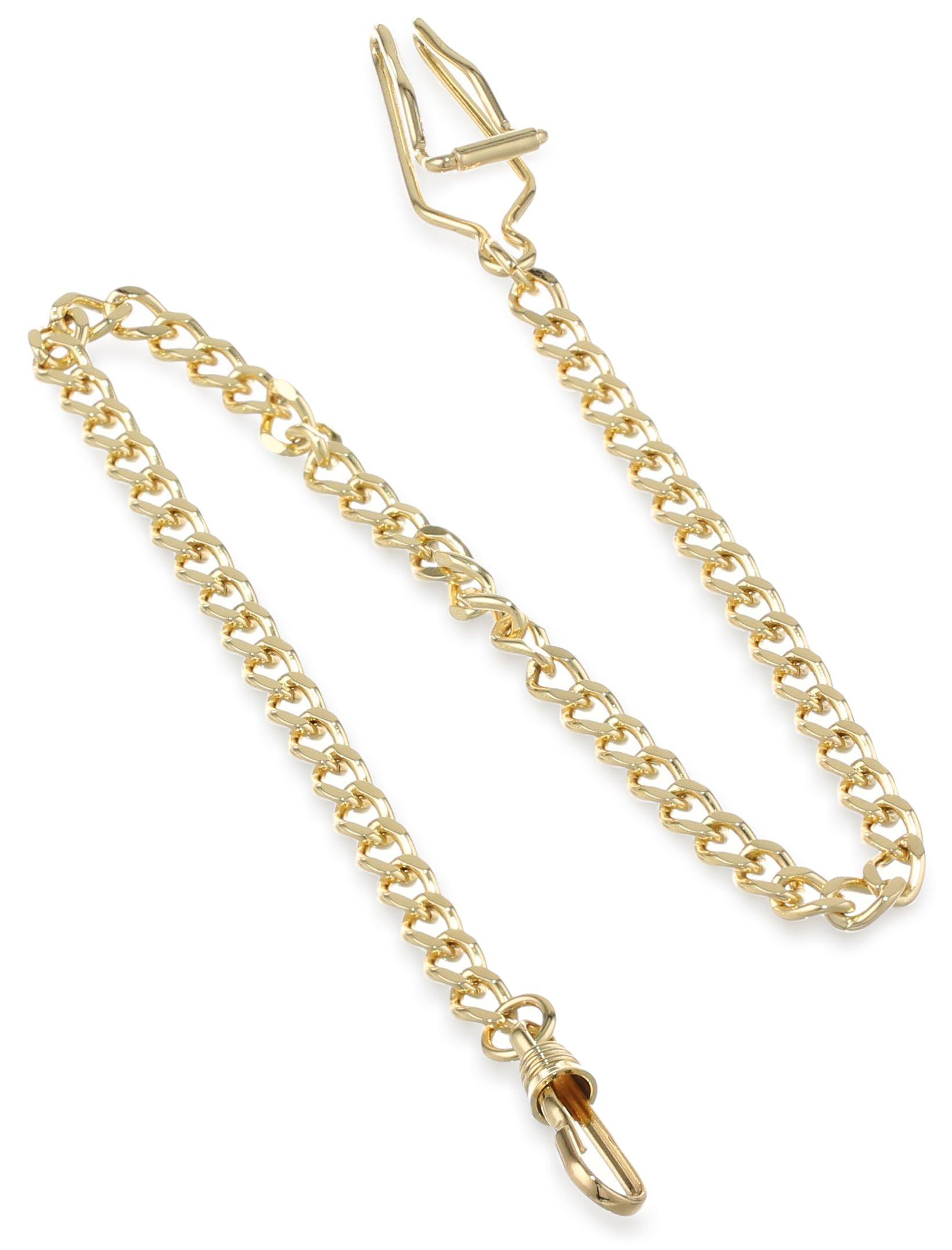 Charles-Hubert, Paris 3547-G Gold-Plated Pocket Watch Chain by CHARLES-HUBERT PARIS
