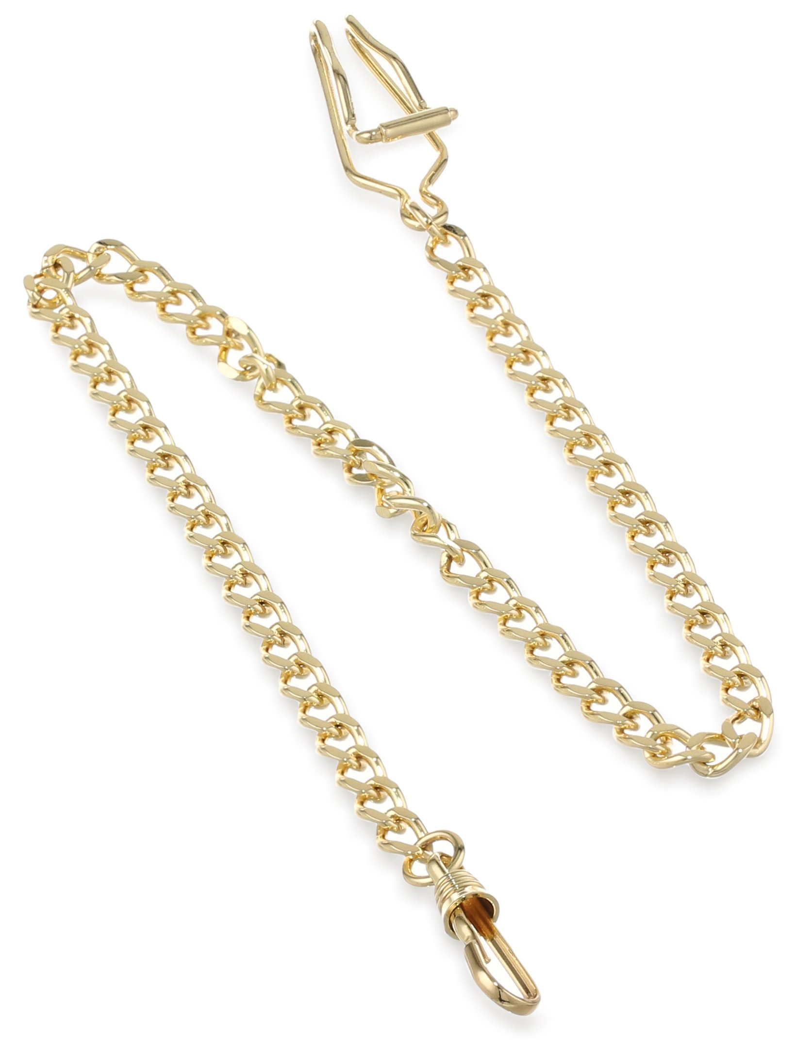 Charles-Hubert, Paris 3547-G Gold-Plated Pocket Watch Chain