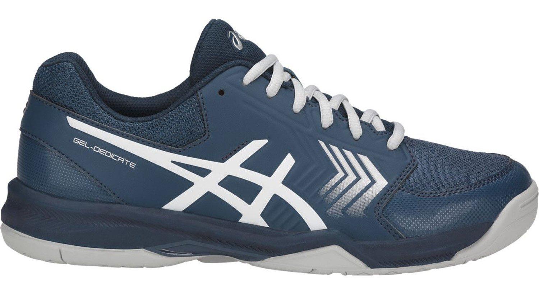 ASICS E707Y Men's Gel-Dedicate Running Shoe, Dark Blue/Silver/White - 10 D (M) US