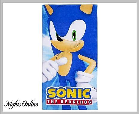 Nuevo Sonic el erizo impreso toalla de playa