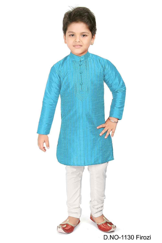 Bedi Fashion BEDI'S Jungen Kurta Pajama Indische Hochzeitsparty Wear Bollywood - FEROZI KP-1130-FEROZI-10