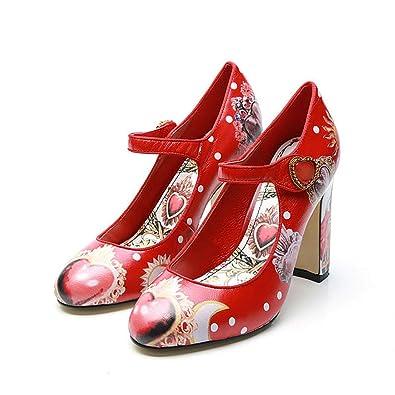Amazon.com: Zapatillas de boda con diseño de corazón, con ...