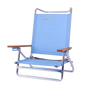 Exceptionnel Beach Chair Backpack Sling Chair 5 Position Lightweight Portable Folding  Lay Flat Chair With Wooden