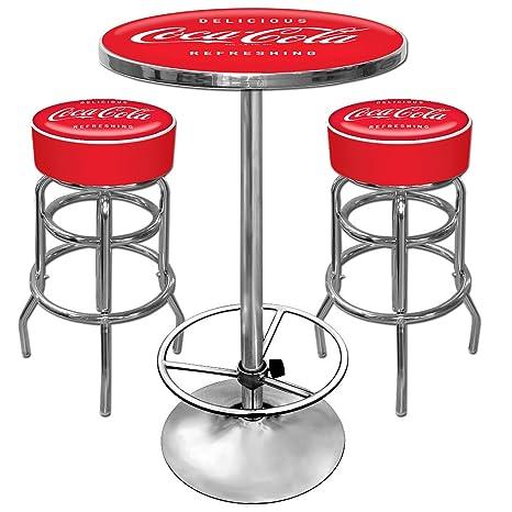 Tavolo Con Sgabelli Coca Cola.Coca Cola Ultimate Gameroom Combo 2 Sgabelli Da Bar E Pub