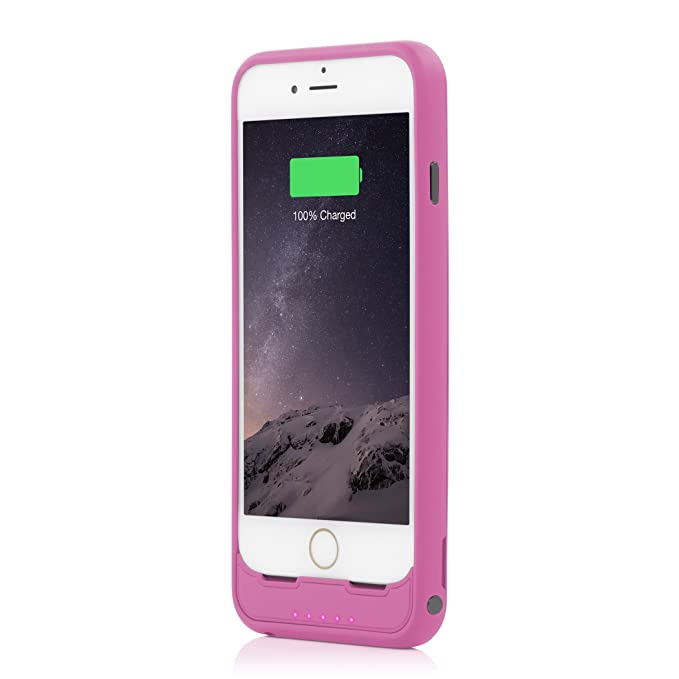 Incipio offGRID Battery Case for iPhone 6, iPhone 6S - Sunkist Coral Pink