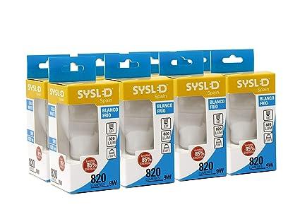 Sysled - Pack de 8 Bombillas LED Becrux, Casquillo E27, 9W ...