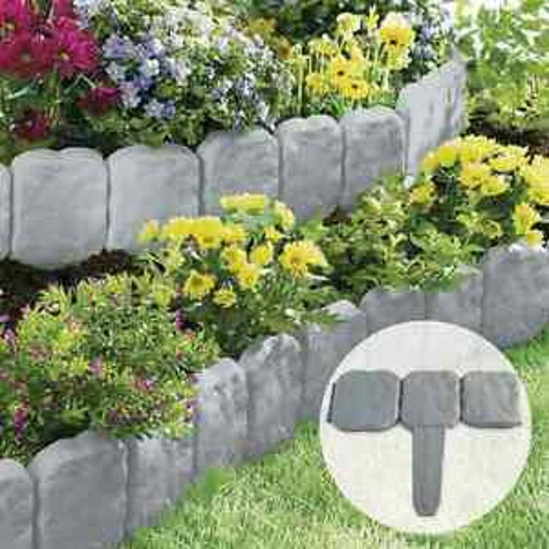 Ram© - Juego de 20 martillos para jardín con efecto de piedra granulada gris oscuro – simplemente martillo en 10 unidades de color gris oscuro con efecto de piedra granulada – simplemente