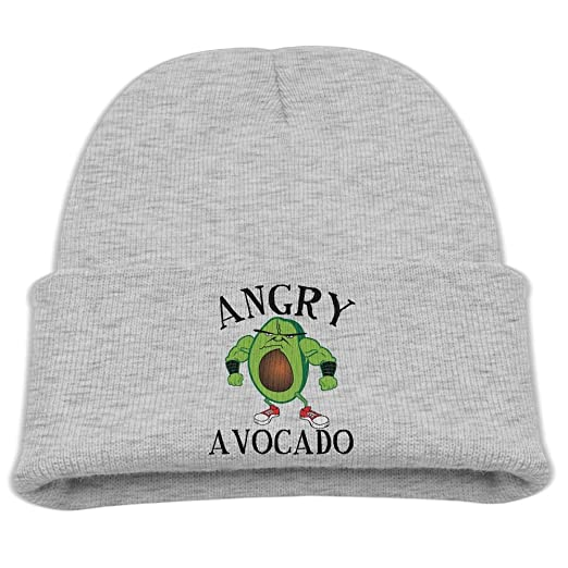 Angry Avocado Logo Kid Knit Beanies Hats For Boys Girls Unique Woolen  Winter Toddler Trucker Baseball 024a4433dbbe