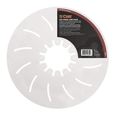 CURT 16722 5th Wheel Hitch Lube Plate, 12-Inch Diameter,White: Automotive
