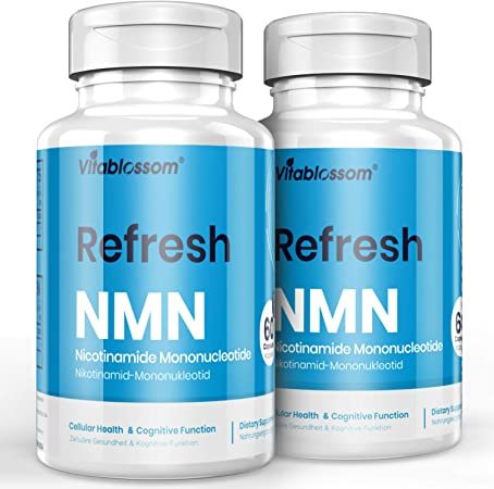 Vitablossom NMN Supplement NMN 500mg 60 Capsules NMN Nicotinamide Mononucleotide NAD Supplements, to Boost NAD Levels for Anti Aging, Energy Supplement, Cellular Repair & Healthy (2 Pack 120 Count)