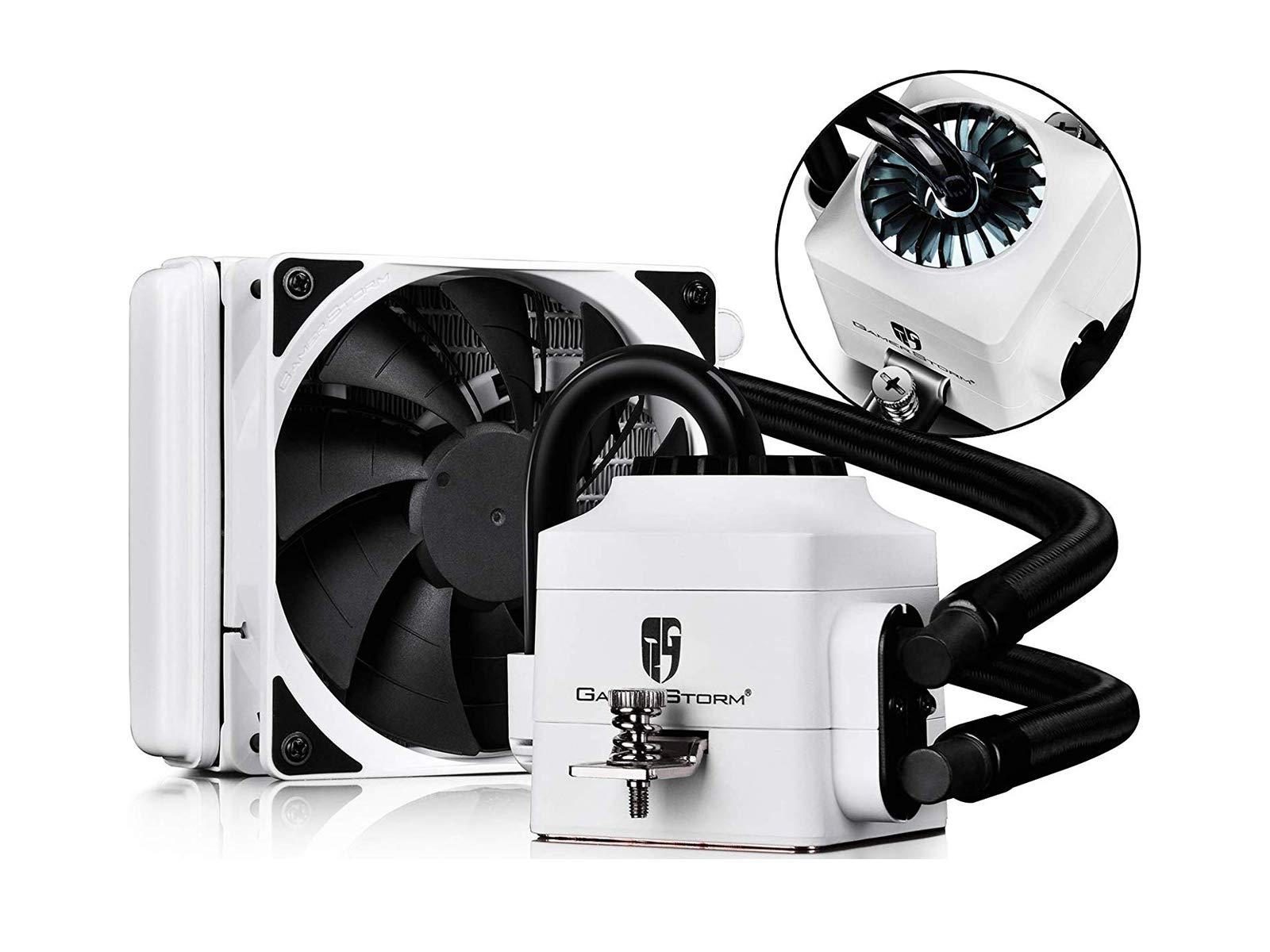 DEEPCOOL Captain 120EX Refrigeración Líquida CPU Silencioso AIO de Alto Rendimiento con Bomba LED Blanco, 120mm PWM Ventilador Silencioso(AM4 Compatible, ...