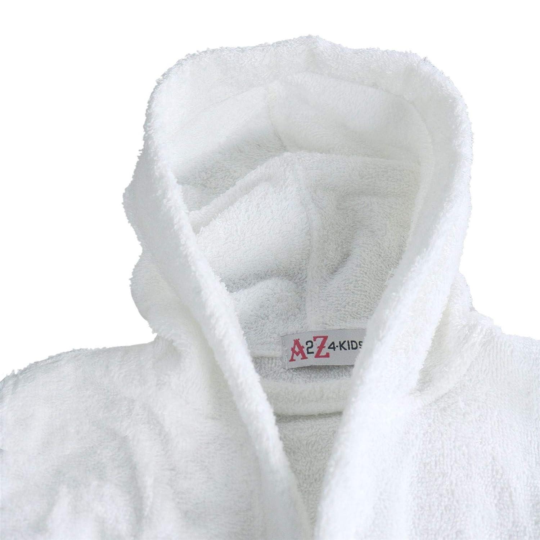 Kids Girls Boys Cotton Soft Terry Hooded Bathrobe Luxury Dressing Gown 3-13 Year
