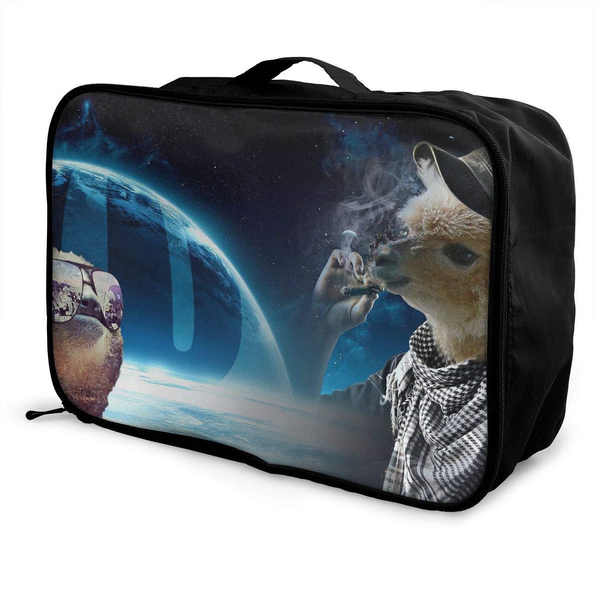 Travel Luggage Duffle Bag Lightweight Portable Handbag Llama Large Capacity Waterproof Foldable Storage Tote