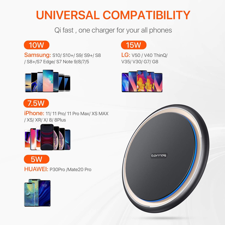 Amazon.com: Torras Upgrade - Cargador inalámbrico rápido de ...