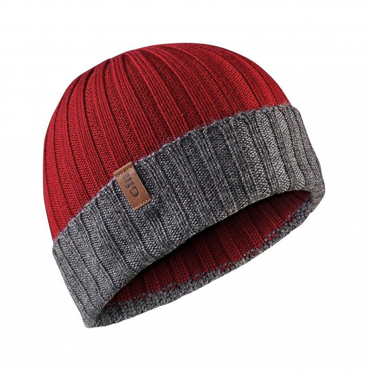 Gill Wide Rib Knit Beanie Hat HT33_BLEU_TU