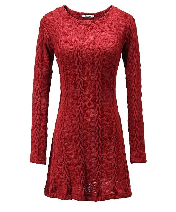 Milkuu Women's Knitted Long Sleeve Fall Tunic Dress cute clothing under ten dollars
