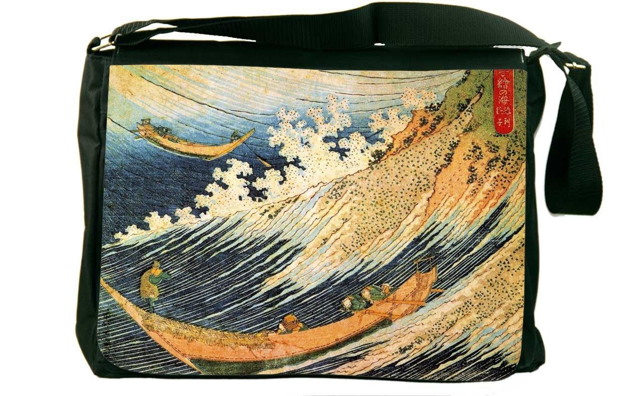 Rikki Landscape Knight Katsushika Hokusai Art Ocean Landscape Ocean IIメッセンジャーバッグスクールバッグ Knight B01IJB1AIW, オトナ可愛いレディース通販-DITA-:3a39bf57 --- mx03.mindreadersgroup.com