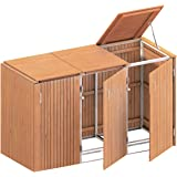 BINTO Mülltonnenbox Hartholz, Müllbox System 18