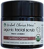 Herbal Choice Mari Organic Facial Scrub - Intense Exfoliation 125g/4.4oz Jar