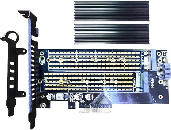 Glotrends Pcie M 2 Adapter Mit Kühlkörper Für Nvme Ssd Computer Zubehör