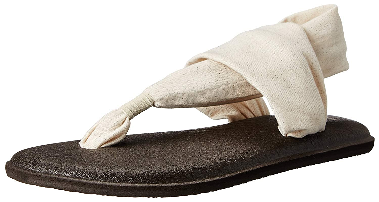 Sanuk Yoga Sling Metallic Womens Sandal (7 B(M) US / 38 EUR, Rose Gold)