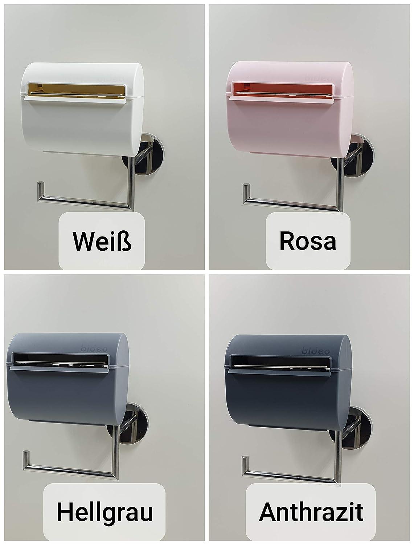 Klorollenhalter popobello. Duft- und Konservierungsstoffe. Hellgrau Alternative zu feuchtem Toilettenpapier Zur einfachen Befeuchtung von Toilettenpapier nur mit Wasser ohne Farb-