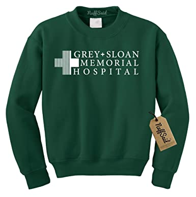 5c5ee532a8b0b1 Grey Sloan Memorial Hospital Sweatshirt Sweater Crew Neck Pullover - Premium  Quality (4XLarge, Forest