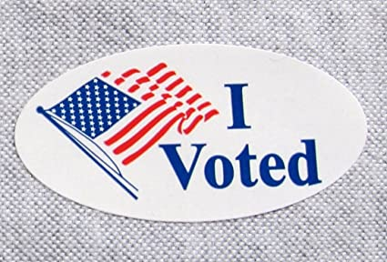 "Amazon.com : 500 Pcs, I Voted Election Label Sticker 3/4"" X 1 1/2 ..."