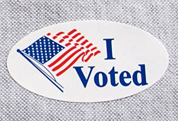 image about I Voted Stickers Printable called 500 Desktops, I VOTED ELECTION LABEL STICKER 3/4\