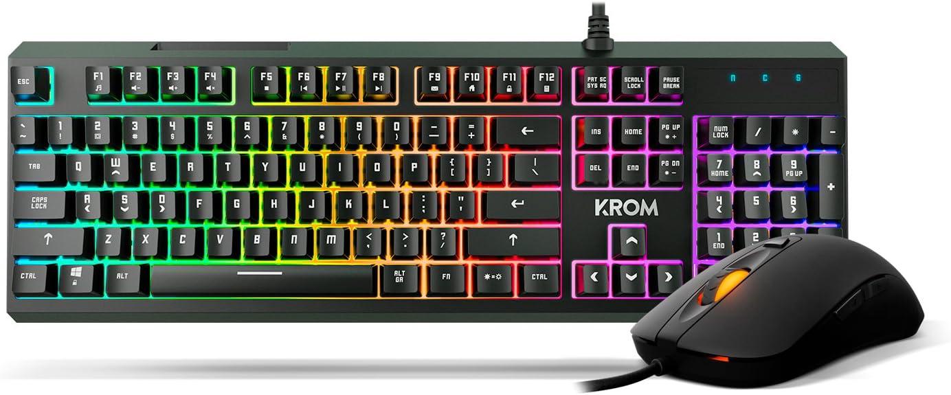 Krom KALEIDO - NXKROMKALEIDO - Pack Teclado y Ratón RGB: Krom ...