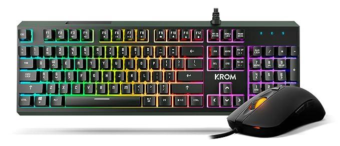 Krom NXKROMKALEIDO Teclado y Ratón RGB, Negro: Krom: Amazon.es: Informática