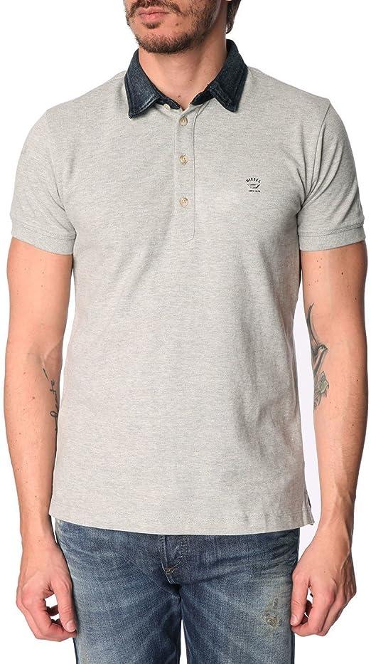Diesel Hombre Basileus Polo Shirt, Gris: Amazon.es: Ropa y accesorios