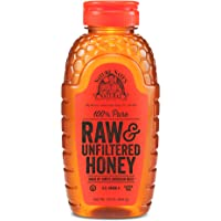 Nature Nate's 100% Pure, Raw & Unfiltered Honey; 16oz. Squeeze Bottle; Award-Winning Taste