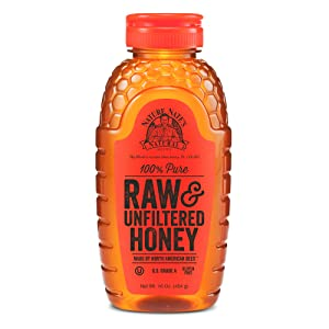 Nature Nate's 100% Pure Raw & Unfiltered Honey; 16-oz. Squeeze Bottle; Gluten Free and OU Kosher Certified