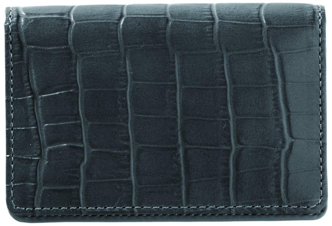KUNISAWA メモカバー 牛革 ブラック LTM-02 B0755FFC2P メモカバー|ブラック メモカバー