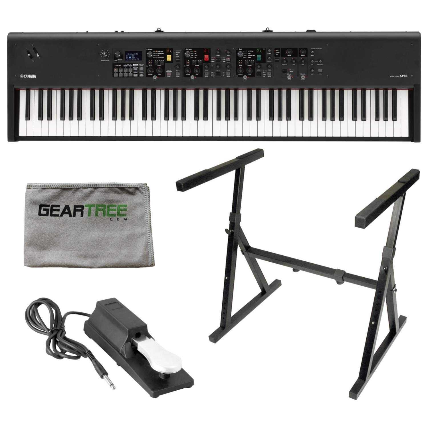 Yamaha CP88 88 Key Stage Piano w/Stand, Cloth and Sustain Pedal by YAMAHA