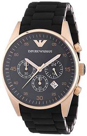 118f9bbb4619 Amazon.com  Emporio Armani Men s AR5905 Black Stainless Steel Watch ...