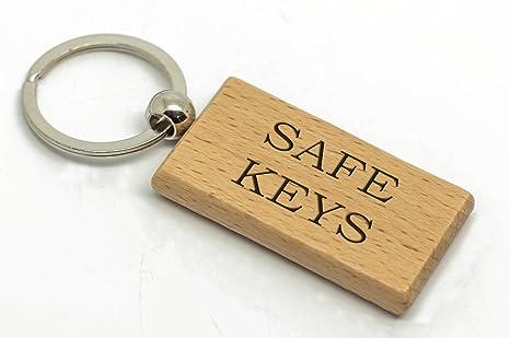 Personalizable Rectangular Safe llaves llavero de madera ...