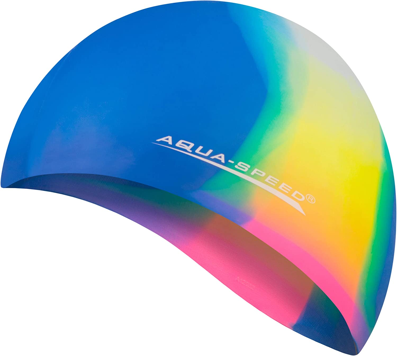 Piscine Silicone Color/é Aqua-Speed/® Bunt Bonnet de Bain