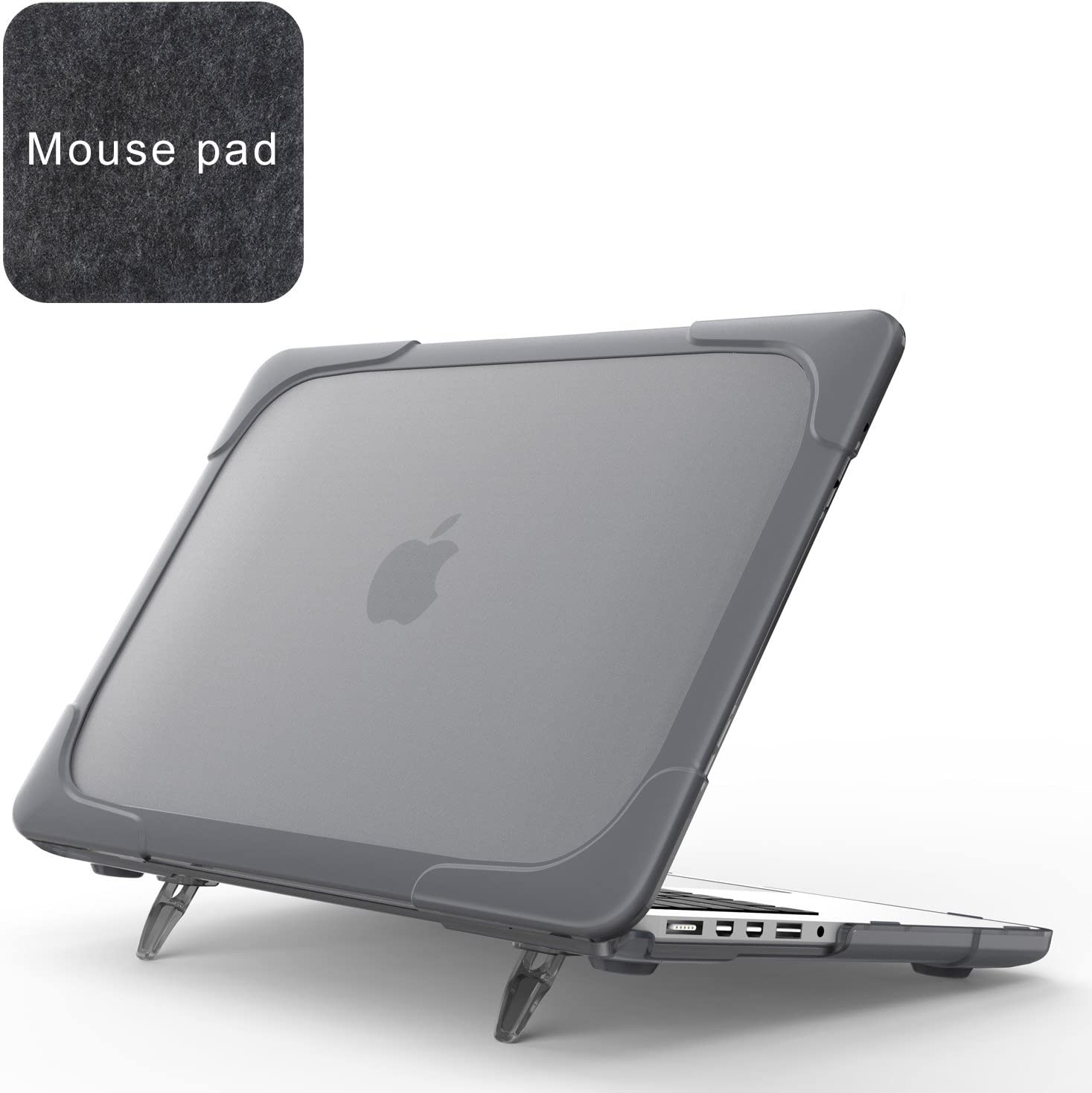 "Spessn Compatible with [Heavy Duty Series] Hard Shell Protective Cover Case for MacBook Pro 15.4"" with Retina Display (Model: A1398, NO CD-ROM Drive) -Grey"
